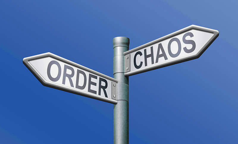 order/chaos signage