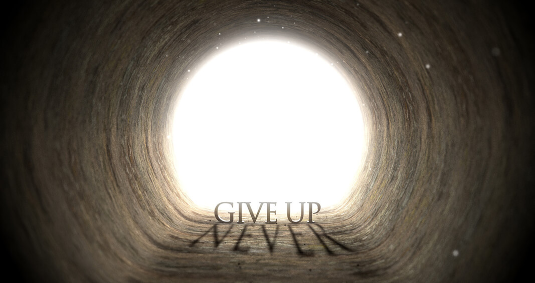 Never Give up - Deanna Cook Article